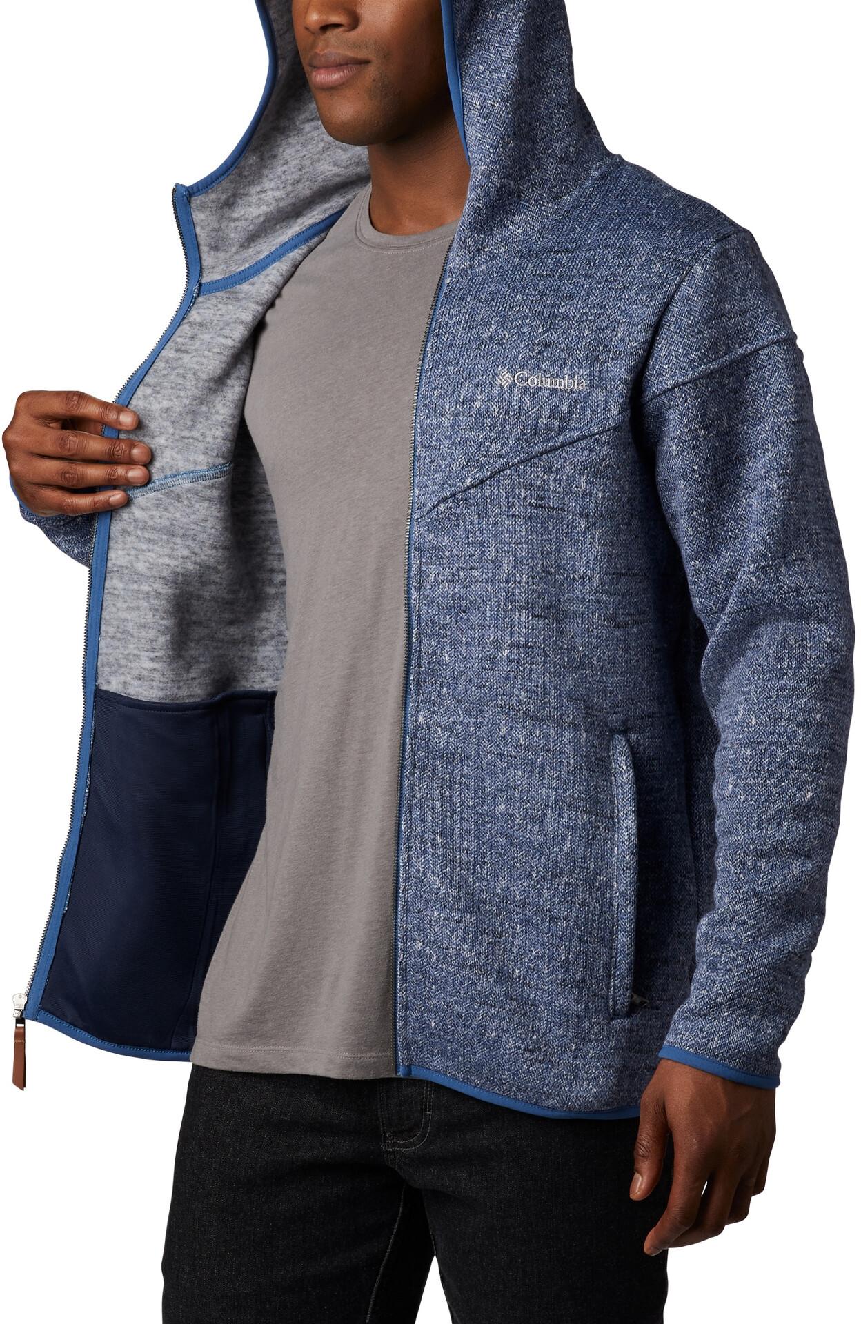 Columbia Boubioz Veste à capuche Polaire Zip Homme, scout blue